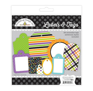 Doodlebug Halloween Gift Tags + Labels | www.bakerspartyshop.com