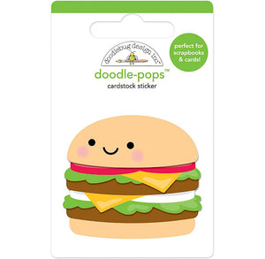 Large Hamburger Sticker | www.bakerspartyshop.com