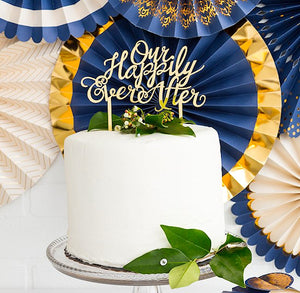 Our Happily Ever After Cake Topper | www.bakerspartyshop.com