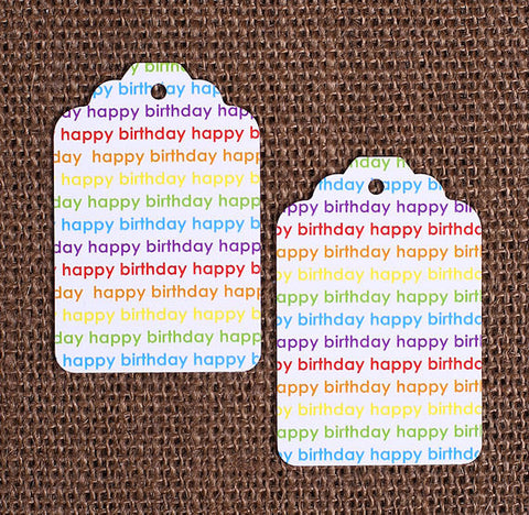 Happy Birthday Rainbow Gift Tags | www.bakerspartyshop.com