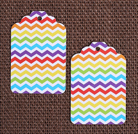 Happy Rainbow Gift Tags: Chevron | www.bakerspartyshop.com
