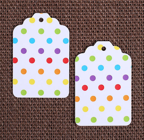 Happy Rainbow Gift Tags: Polka Dot | www.bakerspartyshop.com