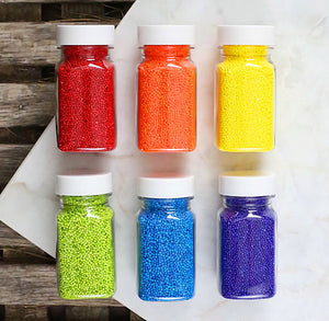 Happy Rainbow Nonpareil Sprinkles Set | www.bakerspartyshop.com