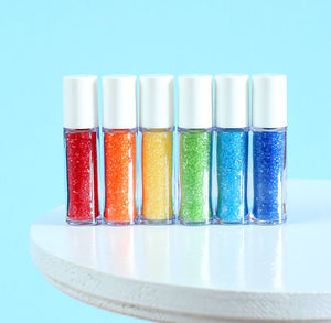 Mini Happy Rainbow Sprinkles Set: Sanding Sugar | www.bakerspartyshop.com