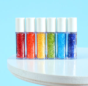 Mini Happy Rainbow Sprinkles Set: Sparkling Sugar | www.bakerspartyshop.com