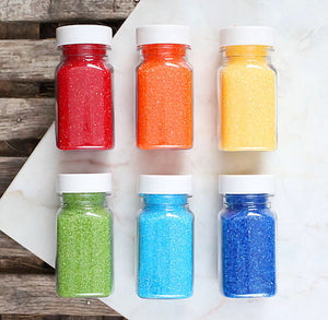 Happy Rainbow Sanding Sugar Set | www.bakerspartyshop.com