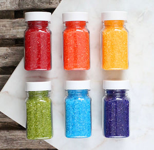 Happy Rainbow Sparkling Sugar Set | www.bakerspartyshop.com