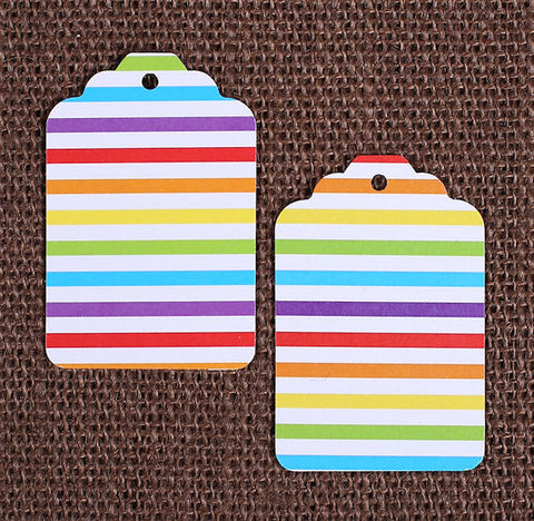 Happy Rainbow Gift Tags: Stripe | www.bakerspartyshop.com