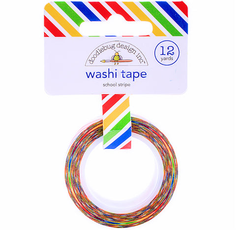 Striped Happy Rainbow Washi Tape | www.bakerspartyshop.com