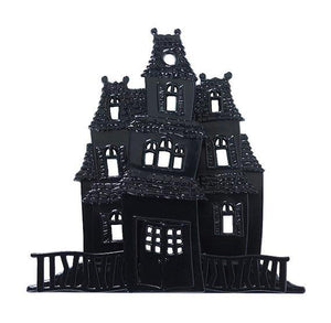 Haunted House Halloween Cake Topper | www.bakerspartyshop.com