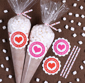 Valentine's Day Cocoa Cone Kit | www.bakerspartyshop.com