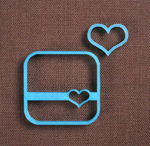 Designer Heart Square Cookie Cutter Set | www.bakerspartyshop.com