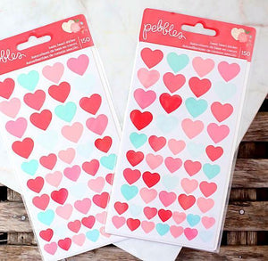 Assorted Heart Stickers | www.bakerspartyshop.com