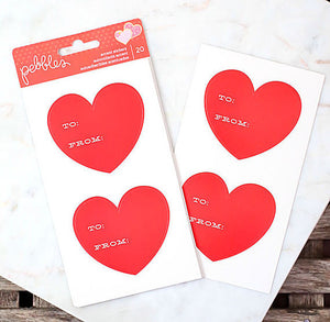 To From Heart Stickers | www.bakerspartyshop.com