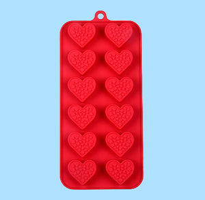 Valentine's Day Candy Mold: Hearts with Hearts | www.bakerspartyshop.com