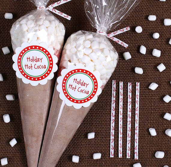 Christmas Hot Cocoa Cone Kit Hot Chocolate Cone Kit