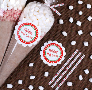 Christmas Hot Cocoa Cone Kit | www.bakerspartyshop.com