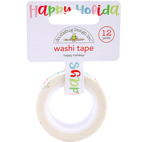 Happy Holidays Washi Tape | www.bakerspartyshop.com