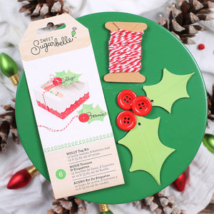 Sweet Sugarbelle Christmas Gift Tags: Holly | www.bakerspartyshop.com
