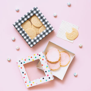 Large Cookie Boxes: Party Dots | www.bakerspartyshop.com