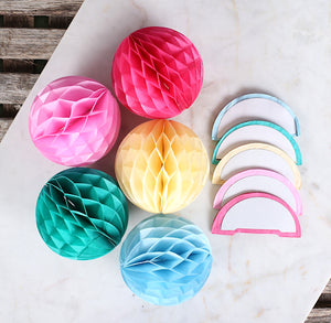 Party Pastel Honeycomb Tissue Balls: 3"