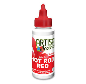 Artisan Accents Red Color Gel Food Coloring | www.bakerspartyshop.com