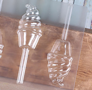 Ice Cream Cone Lollipop Mold | www.bakerspartyshop.com