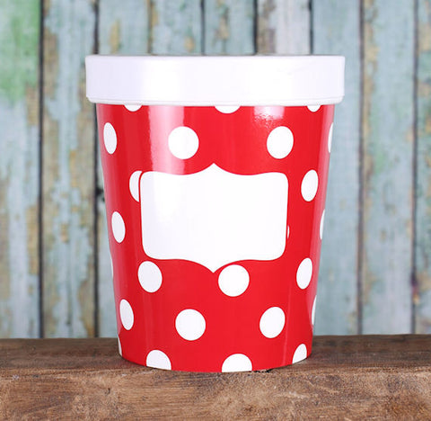 Red Takeout Cups: Polka Dot | www.bakerspartyshop.com