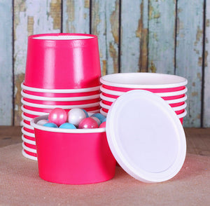 Small Pink Ice Cream Cups | www.bakerspartyshop.com