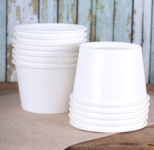Large White Ice Cream Cups: 8oz | www.bakerspartyshop.com