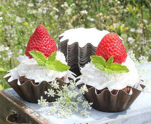Small Brown Baking Cups | www.bakerspartyshop.com