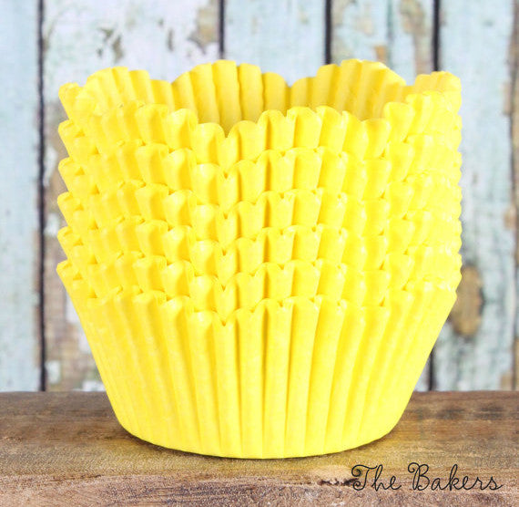 Yellow Petal Cupcake Liners | www.bakerspartyshop.com