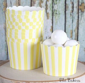 Small Yellow Baking Cups | www.bakerspartyshop.com