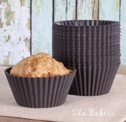 LeKue Brown Silicone Cupcake Liners | www.bakerspartyshop.com