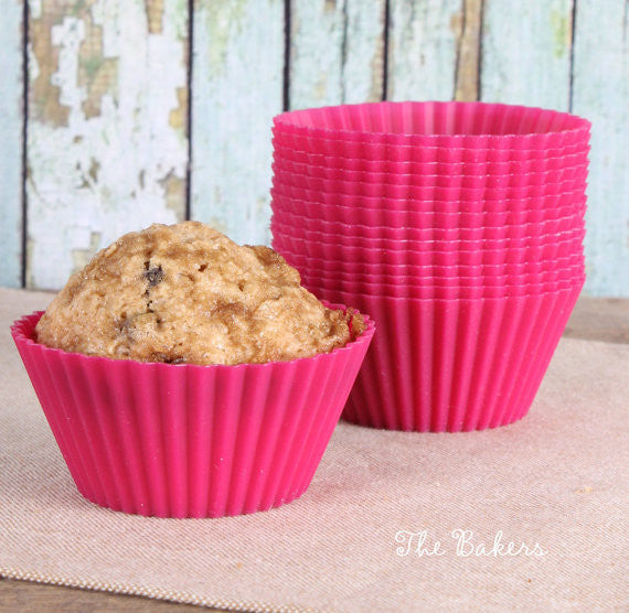 LeKue Pink Silicone Cupcake Liners | www.bakerspartyshop.com