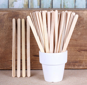 "Wooden Coffee Stirrers: 5.5"" Narrow Popsicle Sticks 
