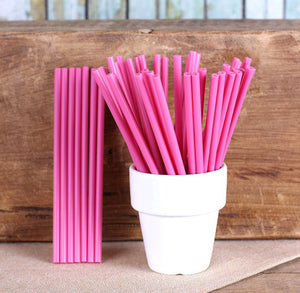 "Raspberry Pink Lollipop Sticks (4 1/2"") 