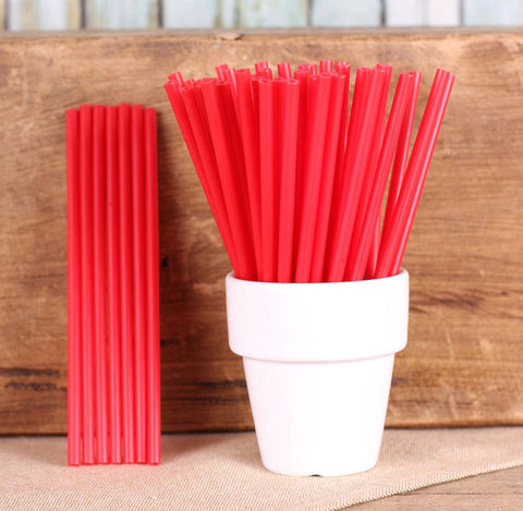 "Red Lollipop Sticks (4 1/2"") 