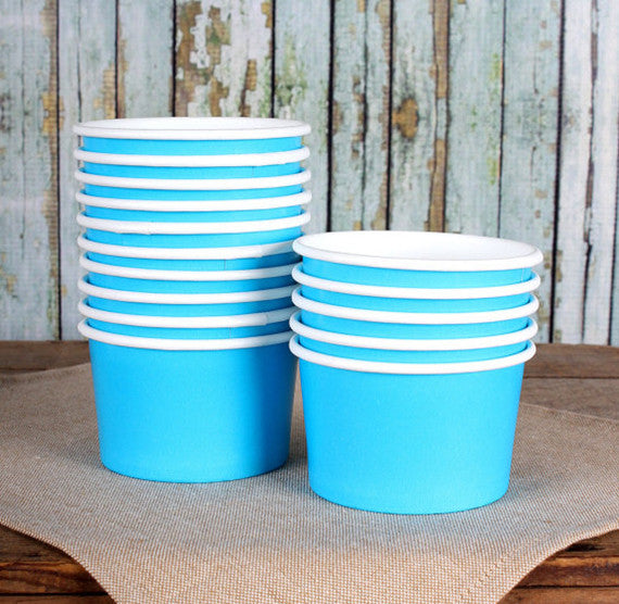 Small Blue Ice Cream Cups | www.bakerspartyshop.com