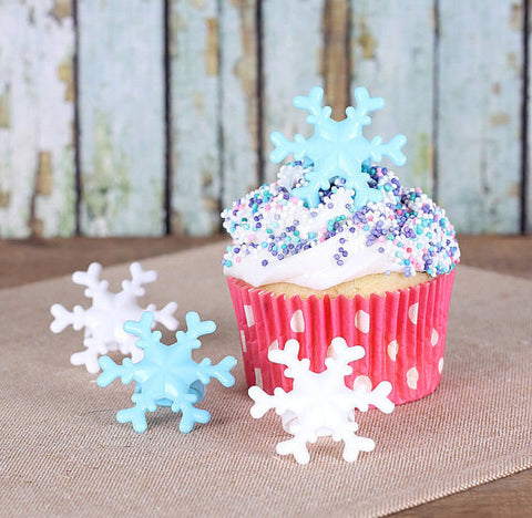 Snowflake Cupcake Topper Rings | www.bakerspartyshop.com