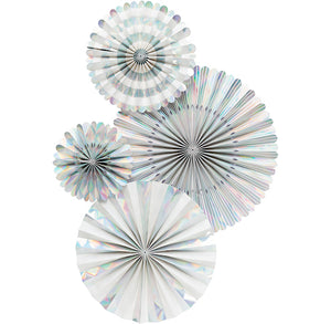 Iridescent Party Fans | www.bakerspartyshop.com