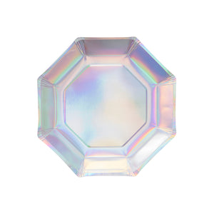 Iridescent Party Plates: Octagon | www.bakerspartyshop.com