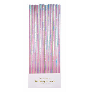 Iridescent Paper Straws | www.bakerspartyshop.com