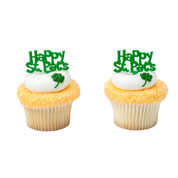 Happy St. Patrick's Day Cupcake Picks | www.bakerspartyshop.com