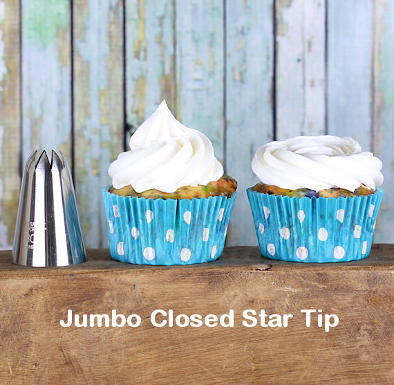 Ateco Jumbo Closed Star Frosting Tip: 848 | www.bakerspartyshop.com