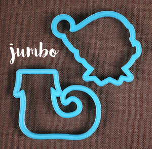 Designer Jumbo Christmas Elf Cookie Cutter Set | www.bakerspartyshop.com