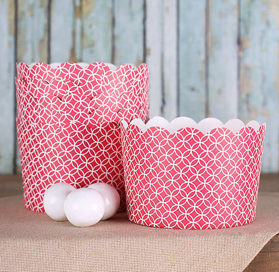 Jumbo Red Baking Cups Jumbo Muffin Cups The Bakers