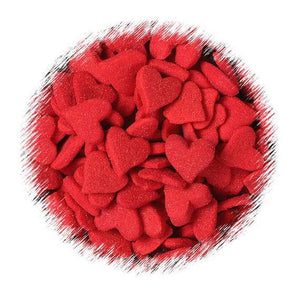 Jumbo Red Heart Quin Sprinkles | www.bakerspartyshop.com
