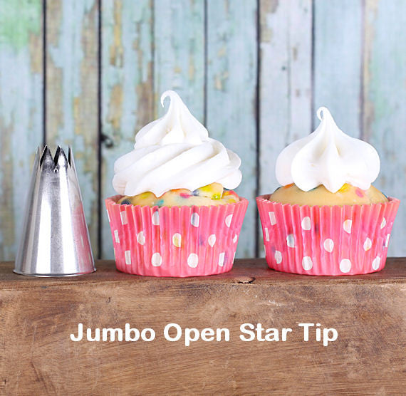 Ateco Jumbo Open Star Frosting Tip 828 Open Star Icing