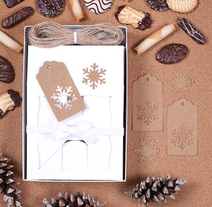 Christmas Cookie Box Kit + Snowflake Tags | www.bakerspartyshop.com